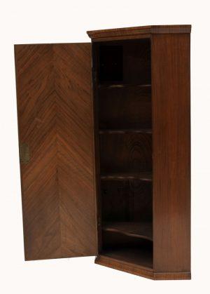 A walnut corner cabinet-573
