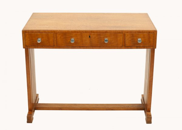 A Heals satinwood side table-0