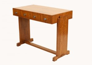 A Heals satinwood side table-604