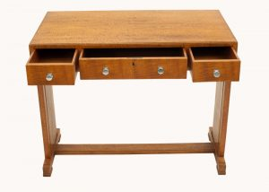 A Heals satinwood side table-599
