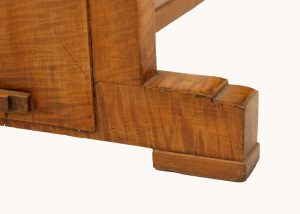 A Heals satinwood side table-602
