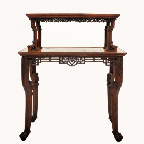 A Franco Japanese inlaid table -0