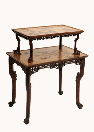 A Franco Japanese inlaid table -613