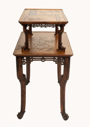 A Franco Japanese inlaid table -618