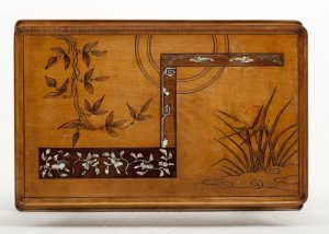 A Franco Japanese inlaid table -616