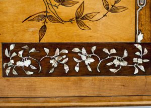 A Franco Japanese inlaid table -614