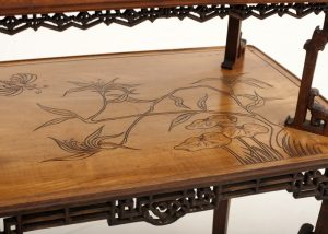 A Franco Japanese inlaid table -615
