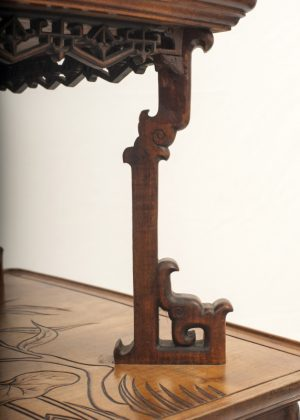 A Franco Japanese inlaid table -617