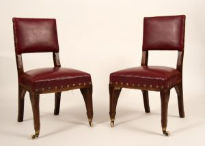 A pair of Gothic Revival chairs -0