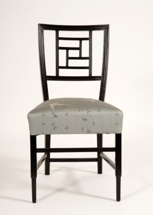 An ebonised side chair -0