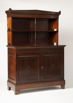 A mahogany cabinet -657