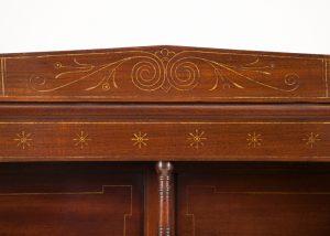 A mahogany cabinet -656