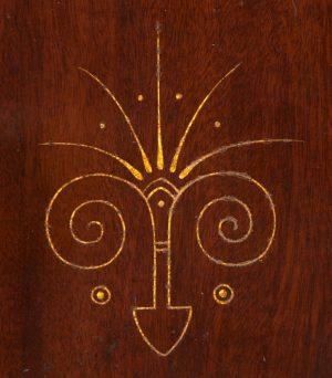 A mahogany cabinet -658