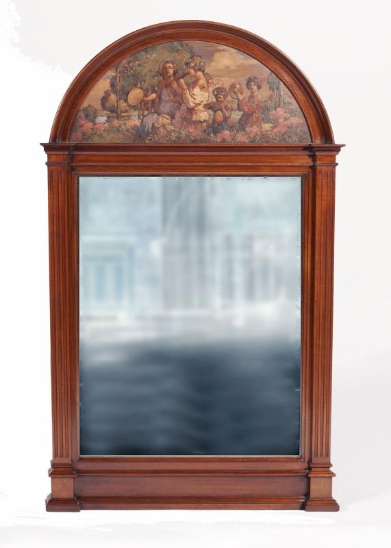 A mahogany pier mirror -0