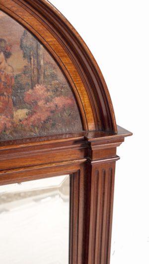 A mahogany pier mirror -715