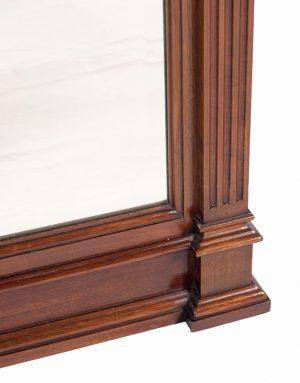 A mahogany pier mirror -714