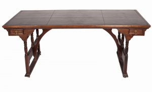 A rare walnut writing / library table-723