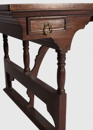A rare walnut writing / library table-718