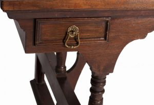 A rare walnut writing / library table-721