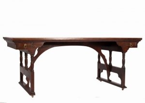 A rare walnut writing / library table-722