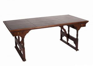 A rare walnut writing / library table-720