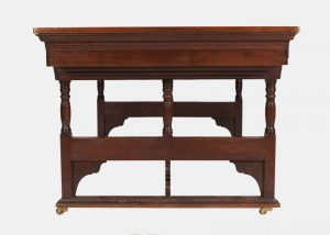 A rare walnut writing / library table-724