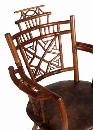 A bamboo Aesthetic Movement chair-758