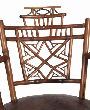 A bamboo Aesthetic Movement chair-754