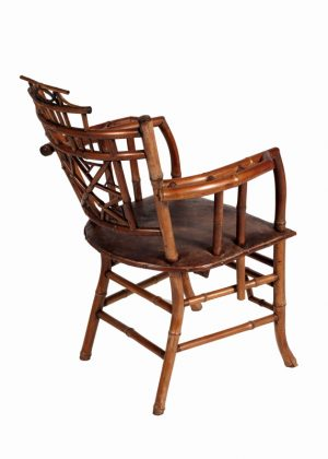A bamboo Aesthetic Movement chair-757