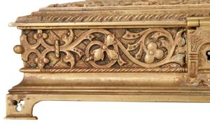 A Gothic Revival gilded brass box-843