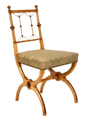 A pair of highly unusual sycamore side chairs-796