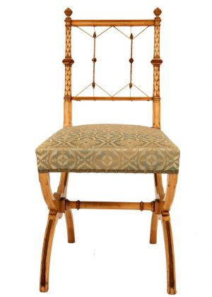A pair of highly unusual sycamore side chairs-800