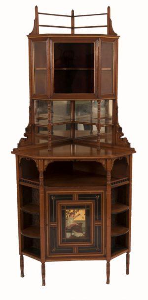 A good Aesthetic Movement corner cabinet -0