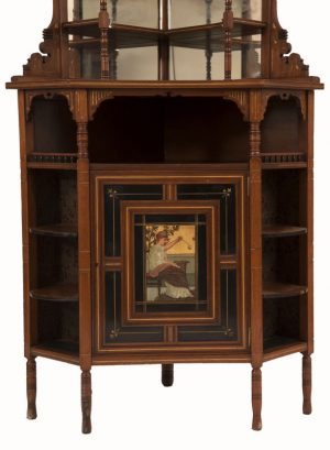 A good Aesthetic Movement corner cabinet -771