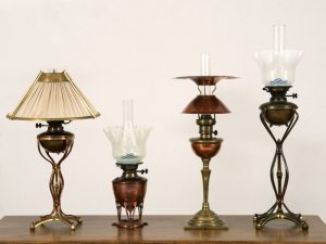 A collection of rare table lamps -0