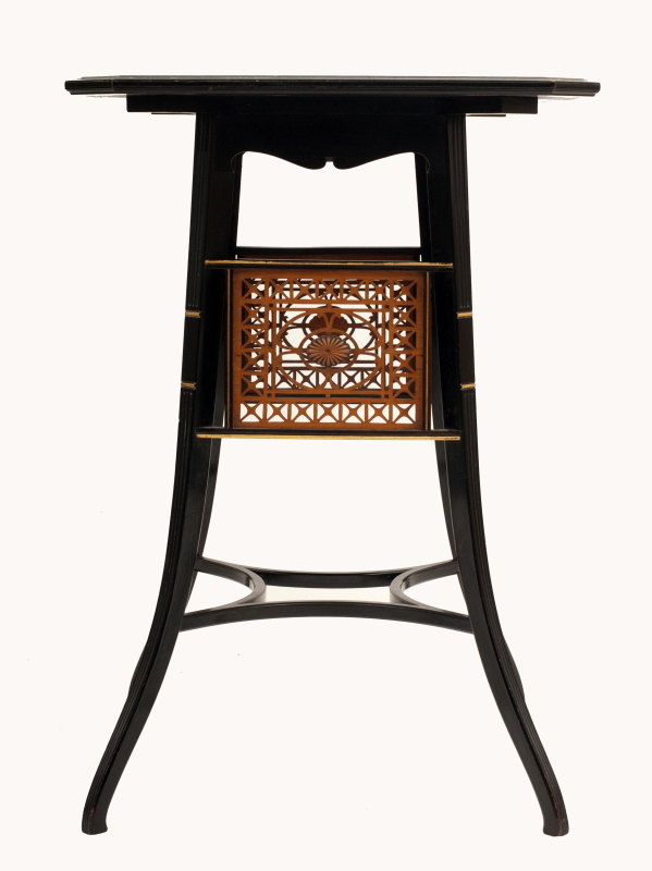 A Lamb of Manchester ebonised table -0