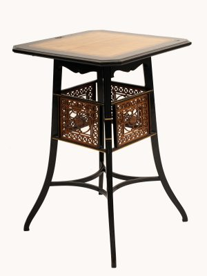 A Lamb of Manchester ebonised table -925