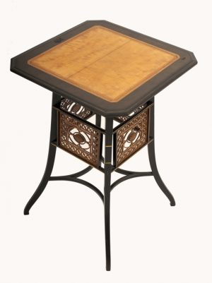A Lamb of Manchester ebonised table -923