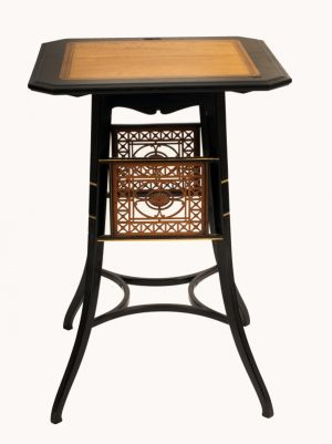 A Lamb of Manchester ebonised table -924