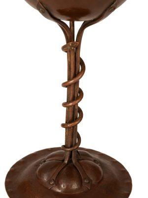 A rare Arts and Crafts copper chalice -897