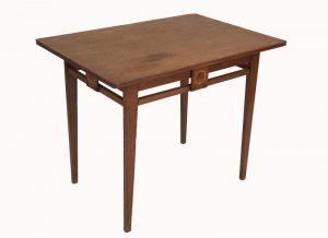 An inlaid oak table -967