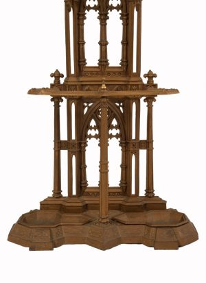 A Gothic Revival cast iron hall stand-984