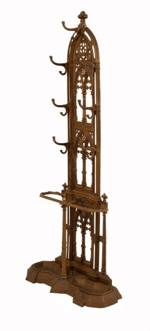 A Gothic Revival cast iron hall stand-982