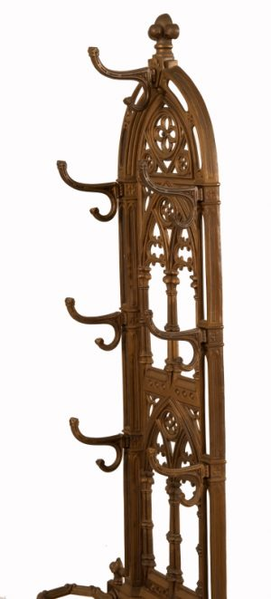 A Gothic Revival cast iron hall stand-983