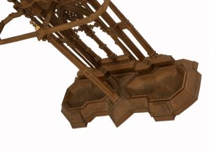 A Gothic Revival cast iron hall stand-988