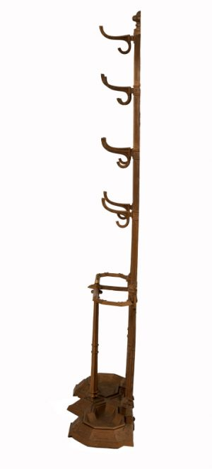 A Gothic Revival cast iron hall stand-989