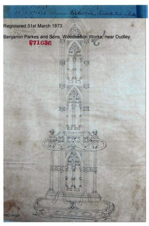A Gothic Revival cast iron hall stand-987