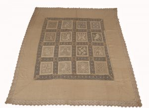 An Arts and Crafts linen bedspread-0