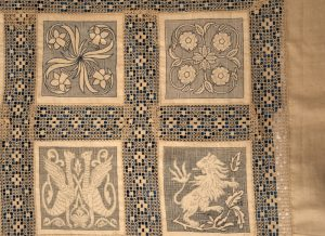 An Arts and Crafts linen bedspread-1027