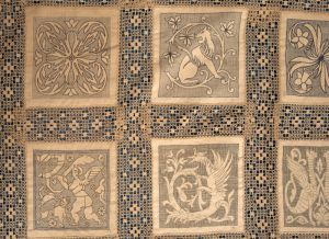 An Arts and Crafts linen bedspread-1024